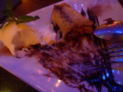 The posh deep fried Mars Bar in the pub.