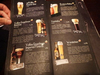 Lithuanian beer selection.