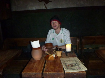 Dining out on the cheap at Olde Hansa, Tallinn, Estonia