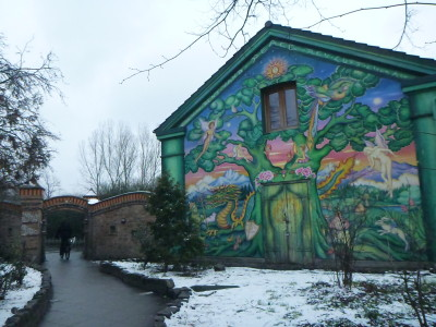 The mural and archway into the Freetown of Christiania.