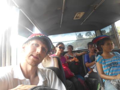 On the minibus from Puerto Cortes to San Pedro Sula, Honduras