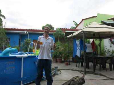 At La Hamaca Hostel in San Pedro Sula, Honduras