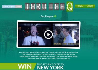 Aerlingus Thru the Q from Dublin to the USA