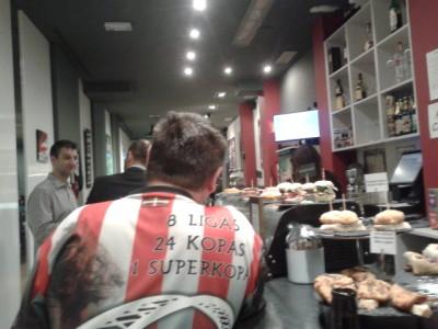 Down the pub watching the Bilbao 1-1 Valencia match