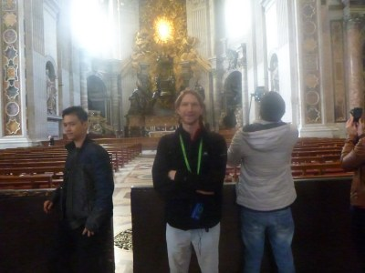 In front of St. Peter's Basilica in the Vatican City State