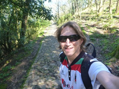 Walking up Mount Urgull