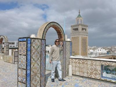 Overlooking the fantastic Zaytouna Mosque in Tunis, Tunisia