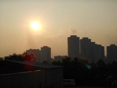 Sunset from Yanggak Island, Pyongyang