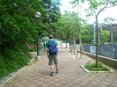 On the Bauhinia Trail in Hong Kong with my new backpack