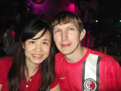 Panny and I partying in Kaiping, China