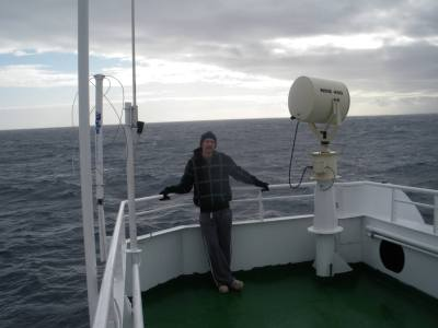 Cruising on the Drake Passage to the Antarctica dreamland in 2010