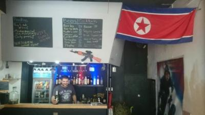 The crazy DMZ North Korean themed bar, Yangshuo
