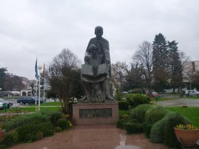 Statues in Ohrid, Macedonia