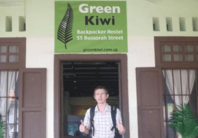 Backpacking in Singapore: Staying at the Green Kiwi Hostel in Bugis