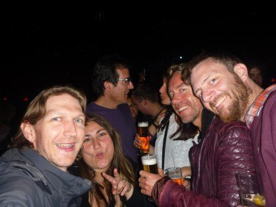 Partying in Apolo with Paul, Mark and Nuria