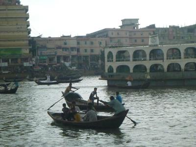 Harbour side in Dhaka, Bangladesh