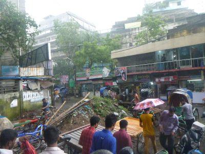 Torrential rain in Dhaka