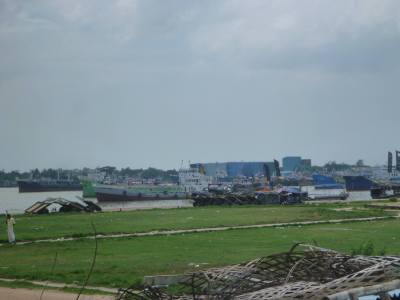 Boats in Chittagong - Bangladesh's biggest port