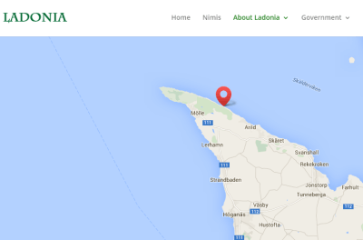 Location of Ladonia on the edge of Sweden