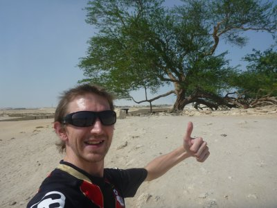 At the Tree of Life in southern Bahrain