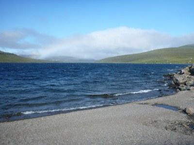The beach before Trøllkonufingur