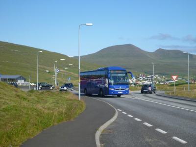 The bus from Miðvágur to Sorvagur