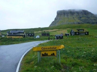 The village of Gasadalur, Faroe Islands