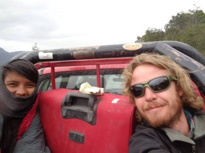 ​World Travellers: Kach and Jonathan, Two Monkeys Travel Hitchhiking in Patagonia, Chile