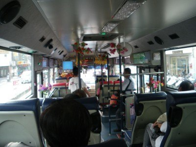 On a bus bound for nowhere in particular, in Taiwan