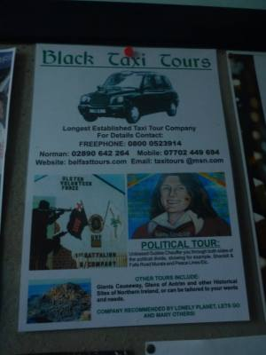 Local black taxi tours available