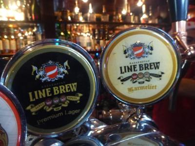 Line Brew beer in the Shakespeare Pub