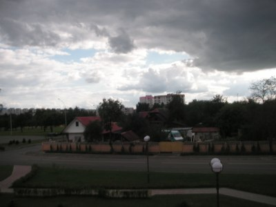 My view of Bobruisk, Belarus from my hotel room in 2007