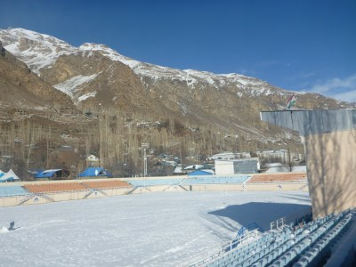 Football stadium in Khorog, Pamirs