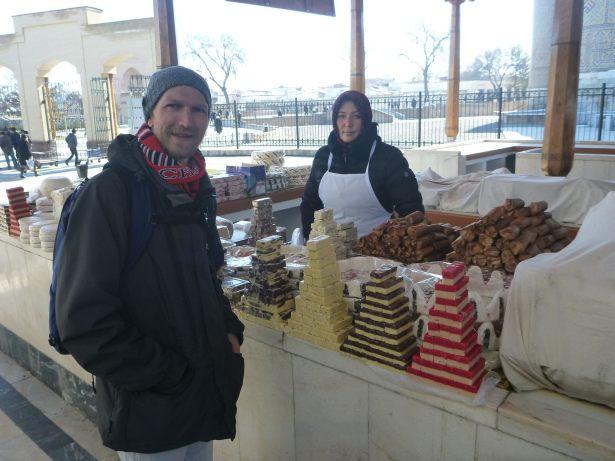 Touring the Bazaar in Samarkand City