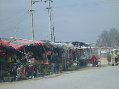 Local shops in Balkh, Afghanistan