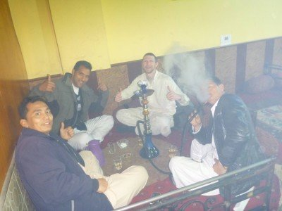 With the lads in Abshar Shisha Lounge