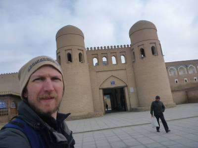 Outside the Arc entrance to Khiva Old Town