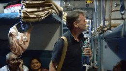 Michael Palin backpacking in Gujarat