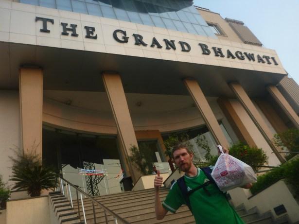 At the Grand Bhagwati Hotel in Ahmedabad, Gujarat Province