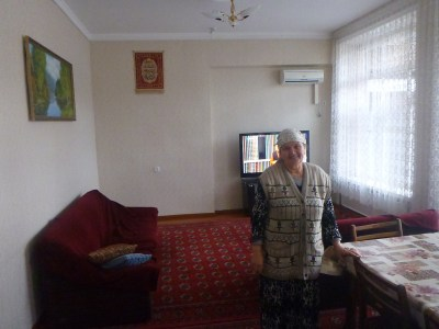 Gulnara at her cosy Guesthouse in Tashkent, Uzbekistan