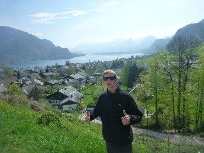 Lake district at St. Gilgen over Lake Wolfgang