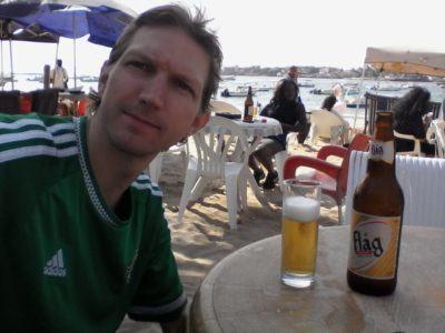 Beers at Plage N'Gor