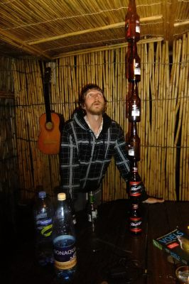 A few years back in South Africa - balancing bottles in Soweto