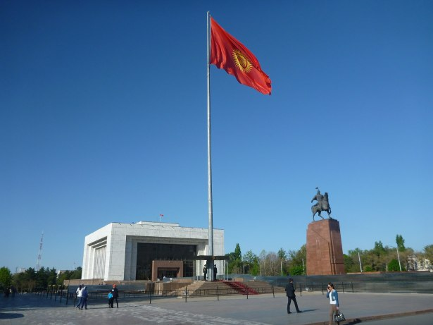 Backpacking in Kyrgyzstan: Ala too Square in Bishkek