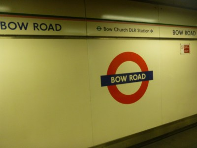 Arrival at Bow Road tube station, change here for the Kingdom of Lovely.