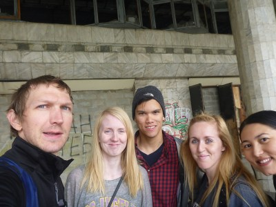 Abandoned casino tour with the hostel gang