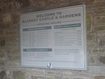 Opening Hours and Prices for Blarney Castle and Gardens