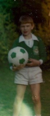 Back in the 80s, dreaming with my first ever Northern Ireland kit and ball