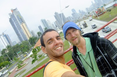 Eduardo and I backpacking in Panama City in 2010 - but you're only friends for a day.