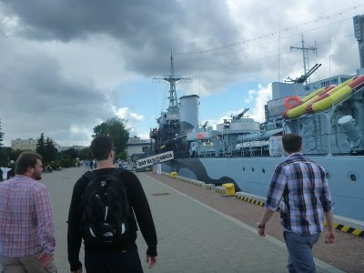 Touring Gdynia harbour